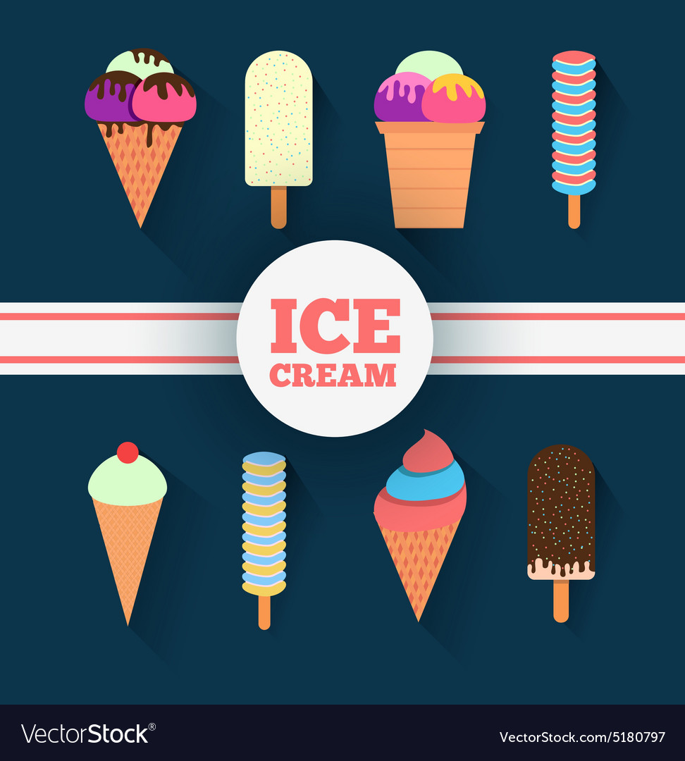 Icecream design set vector