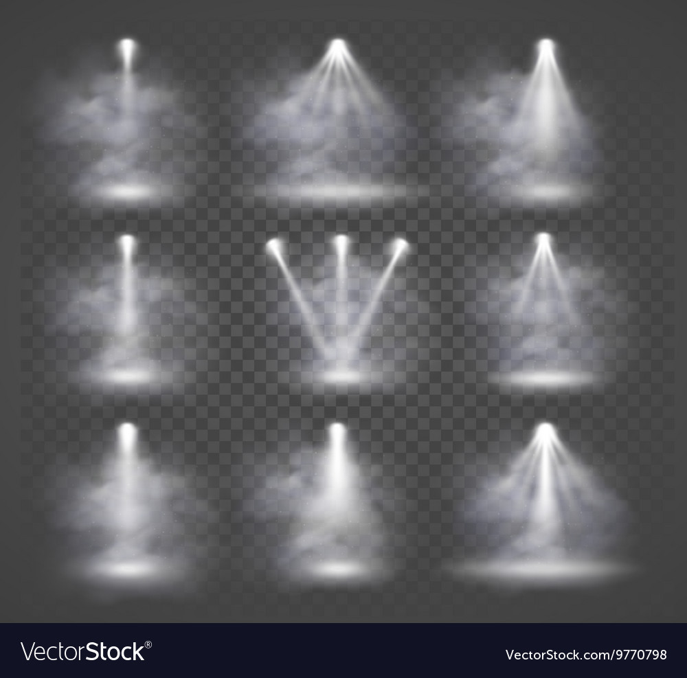 Light sources and smoke concert with beam vector