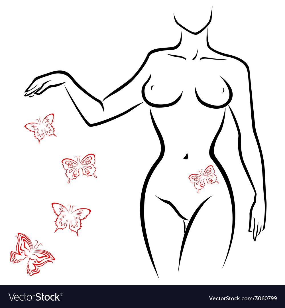 Abstract sexy woman body vector