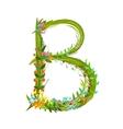 Flower calligraphy floral elegant decorative vector image vector image