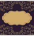 Decoration vintage pattern text background vector image