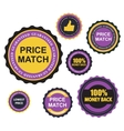 Quality Label Sign Set in Flat Modern Design with vector image vector image