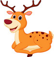 happy deer cartoon vector image