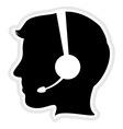 Call center man icon vector image