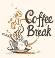 cup of coffee and lettering vector image