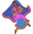 dancing indian woman vector image