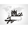 standing success businessman silhouetted vector image