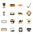 Hockey icons set vector image