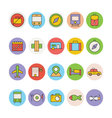 Travel Colored Icons 1 vector image