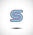 Abstract Letter S Icon vector image