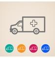 ambulance car icons vector image