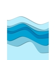 Blue water curve waves background vector image