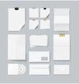 Branding set of paper templates vector image