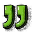 cartoon image of quote icon quote symbol vector image