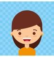 female avatar design vector image