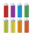 gas lighter empty mock up set vector image