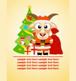 happy new year card with goat santa claus vector image