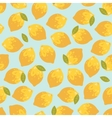 seamless pattern with summer lemons vector image