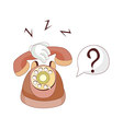 A ringing telephone vector image vector image