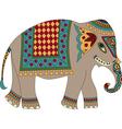 indian elephant isolated on white vector image