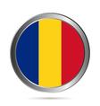 Romania flag button vector image