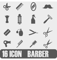 Icon Barber On white background vector image