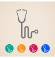 stethoscope icons vector image