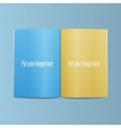 Blank Template of realistic opened Magazine vector image