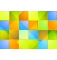 Colorful abstract tech squares background vector image