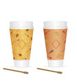 two glasses vector image