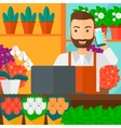 Florist taking order vector image