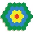 Hexagonal 3d pattern 01 vector image