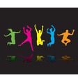 colourful jumpers vector image vector image