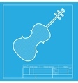 Violine sign  White section of icon vector image