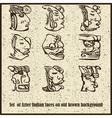Aztec Motif Heads Background vector image