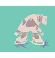 Brown bear vector image