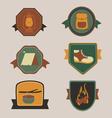 Camping awards vector image