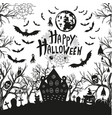 happy Halloween sign and icons for Halloween vector image