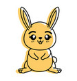 isolated cute standing rabbit vector image