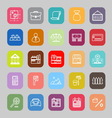 Mortgage and home loan line flat icons vector image