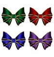 multicolored silk bows vector image