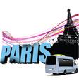 Paris border vector image