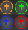 religious cross Christian icon Fashionable modern vector image