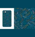 seamless pattern with spring birds and branches vector image