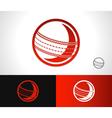 Cricket Ball Icon vector image vector image