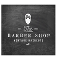 Vintage Barber Shop Design Element on Chalkboard vector image