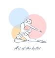Art of the ballet logo with ballerina vector image