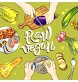 vegetables top view vector image