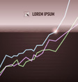 Equity chart turning positive vector image vector image