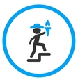Human Figure Leader Rounded Icon vector image